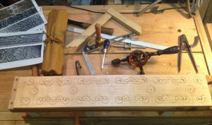 First part of the layout done with a start on the setting in phase of the carving.