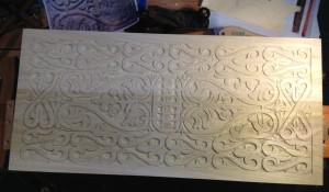 Final arrangement of carving for the inside of the panel done.