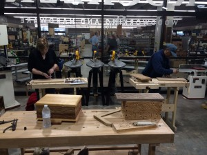 Students at the Flat Relief Carving Class.  Rockler, Northgate Seattle WA 4/12/14