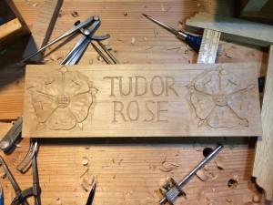 Tudor Rose sample board