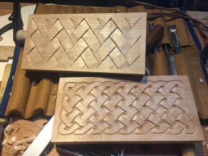 Knotwork and Basket Weave carving